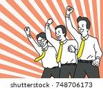 businessman  office worker ... | Shutterstock .eps vector #748706173