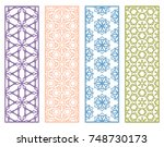 decorative colorful line... | Shutterstock .eps vector #748730173
