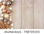 christmas side border with... | Shutterstock . vector #748735153