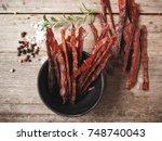 beef jerky | Shutterstock . vector #748740043