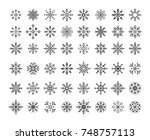 set of vector snowflakes shapes.... | Shutterstock .eps vector #748757113
