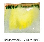 watercolor blotch | Shutterstock . vector #748758043