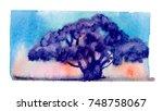 watercolor blotch | Shutterstock . vector #748758067