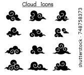 asian cloud  decorate cloud ... | Shutterstock .eps vector #748758373