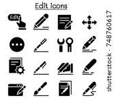 edit icon set vector...