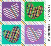 seamless pattern with hearts.... | Shutterstock .eps vector #748770763