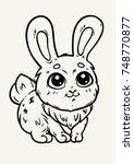 nice little rabbit  vector...   Shutterstock .eps vector #748770877