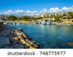 coral bay  paphos district ... | Shutterstock . vector #748775977