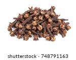 dry spice cloves isolated on... | Shutterstock . vector #748791163