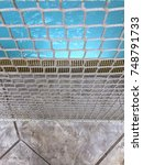 entrance to a pool being... | Shutterstock . vector #748791733
