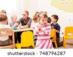 interesting lesson modeling | Shutterstock . vector #748796287