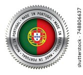 made in portugal metal silver... | Shutterstock .eps vector #748806637