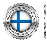 made in finland metal silver... | Shutterstock .eps vector #748806823