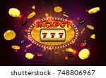 jackpot lucky wins golden slot... | Shutterstock .eps vector #748806967