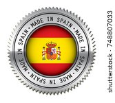 made in spain metal silver... | Shutterstock .eps vector #748807033