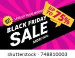 black friday sale vector banner ...   Shutterstock .eps vector #748810003