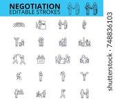 negogiation skills ouline... | Shutterstock .eps vector #748836103