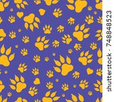 Seamless Pattern Of Traces Of...