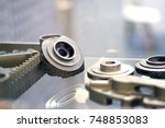 object printed on metal 3d... | Shutterstock . vector #748853083