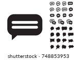 speech bubble vector icon... | Shutterstock .eps vector #748853953