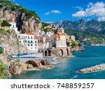 the amalfi coast in italy | Shutterstock . vector #748859257