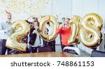 business people celebrating... | Shutterstock . vector #748861153