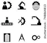 engineering icon set | Shutterstock .eps vector #748864813