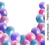 celebration party banner with... | Shutterstock .eps vector #748865863