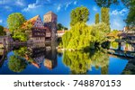 the historic old town of... | Shutterstock . vector #748870153