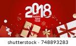 vector illustration of new year ...   Shutterstock .eps vector #748893283