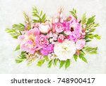 summer blossoming delicate... | Shutterstock . vector #748900417