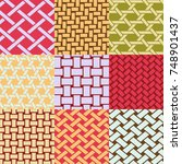 patterns collection of...   Shutterstock .eps vector #748901437