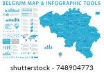belgium map   detailed info... | Shutterstock .eps vector #748904773
