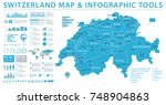 switzerland map   detailed info ... | Shutterstock .eps vector #748904863
