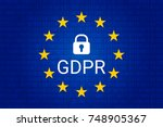 gdpr   general data protection... | Shutterstock .eps vector #748905367