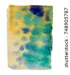 watercolor blotch | Shutterstock . vector #748905787