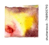 watercolor blotch | Shutterstock . vector #748905793