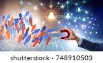 businessman in recruitment... | Shutterstock . vector #748910503