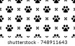 dog paw puppy cat paw kitten... | Shutterstock .eps vector #748911643