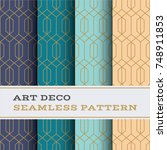 art deco seamless pattern with... | Shutterstock .eps vector #748911853