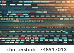 top view of cargo trains.... | Shutterstock . vector #748917013