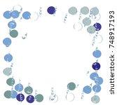 festive colorful round confetti ... | Shutterstock .eps vector #748917193