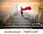 businessman superhero... | Shutterstock . vector #748921387
