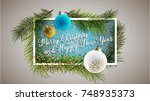 2018 happy new year background... | Shutterstock .eps vector #748935373