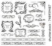 set of vector graphic elements... | Shutterstock .eps vector #748959487