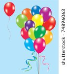 vector illustration of colorful ... | Shutterstock .eps vector #74896063