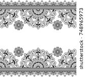border lace line element with... | Shutterstock .eps vector #748965973