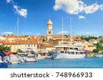 view of mediterranean coastal... | Shutterstock . vector #748966933