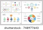 seven workflow slide templates... | Shutterstock .eps vector #748977643