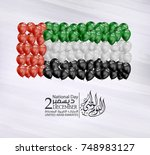 united arab emirates national... | Shutterstock .eps vector #748983127